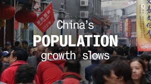 SLOWEST POPULATION IN CHINA IN DECADES
